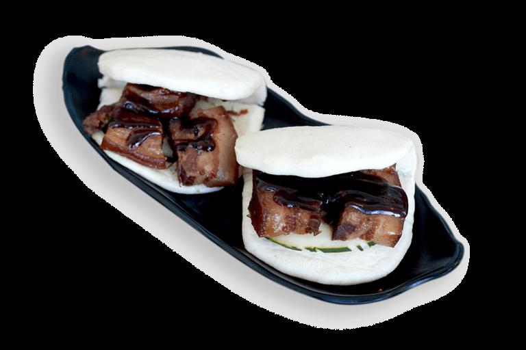 Braised pork steamed bun sandwich